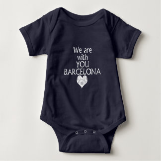 We are with you Barcelona Baby Bodysuit