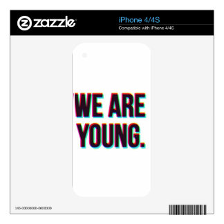 We Are Young Text Customizable Product iPhone 4 Decals