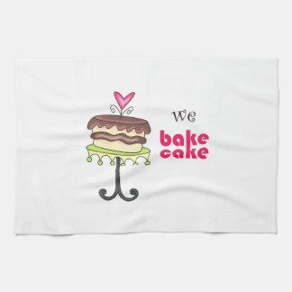 WE BAKE CAKE HAND TOWELS