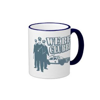 We Be Clubbin' Ringer Coffee Mug