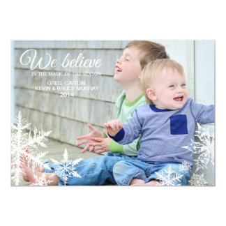 We Believe | Holiday Photo Greeting 5x7 Paper Invitation Card