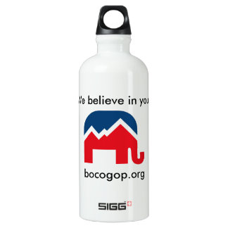 We believe in you. Aluminum water bottle. Water Bottle