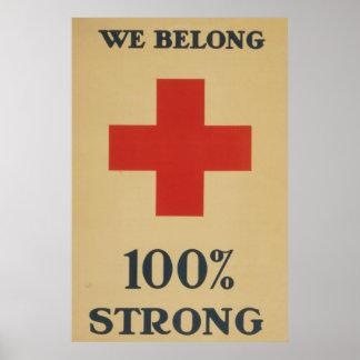 We Belong 100% Strong - Red Cross Print