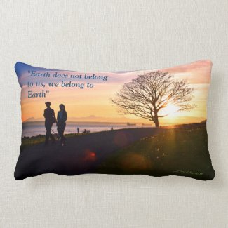 We Belong to Earth Pillow