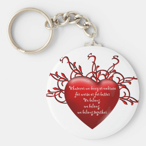 We Belong Together Basic Round Button Keychain