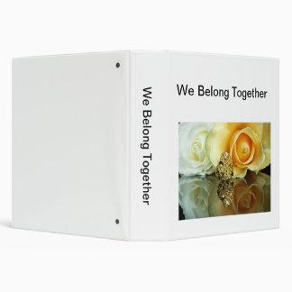 We Belong Together Custom 3 Ring Binder