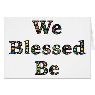 We Blessed Be magic nature emoji-art greeting card
