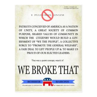 We BROKE that! Postcard