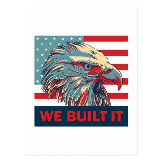 We Built It Republican Romney 2012 Postcard
