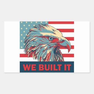 We Built It Republican Romney 2012 Rectangular Sticker
