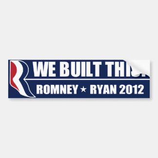 We Built This! Bumper Sticker