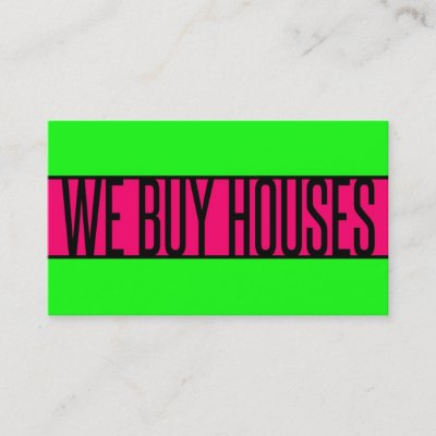 Real estate investor business card i buy houses zazzle colourmoves