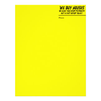 We Buy Houses Yellow Letter Head Letterhead
