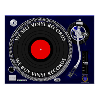 WE BUY SELL VINYL RECORDS POSTER