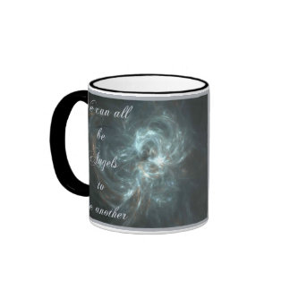 WE CAN ALL BE ANGELS RINGER COFFEE MUG