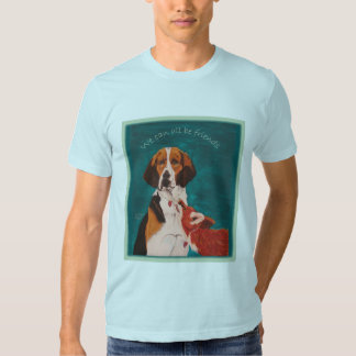 We Can All Be Friends AA tee light blue