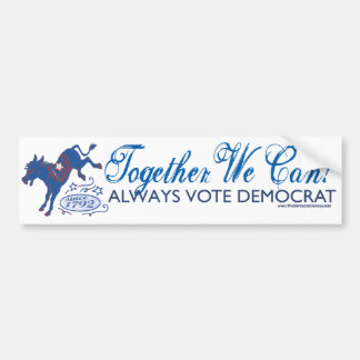 We Can Blue Donkey Kick Bumper Sticker