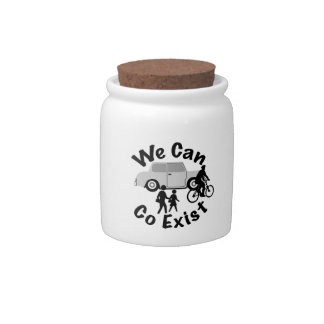 We Can Co Exist Candy Jars