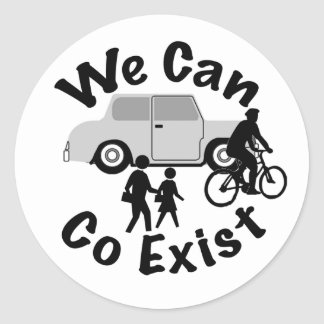 We Can Co Exist Classic Round Sticker