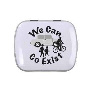 We Can Co Exist Jelly Belly Candy Tin