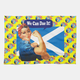 We Can Dae It Scottish Independence Tea Towel