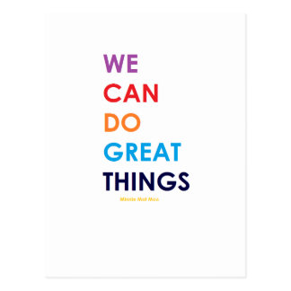 We Can Do Great Things Postcard