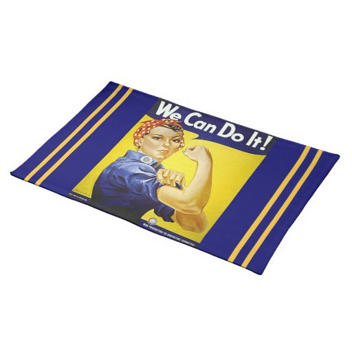 We Can Do It 1 Cloth Place Mat
