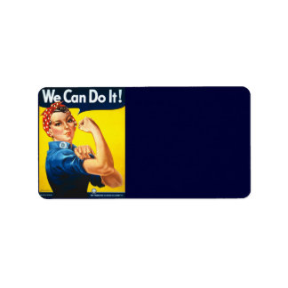 We Can Do It Address Label