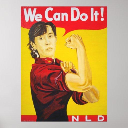 We Can Do It! - Ang San Suu Kyi Poster