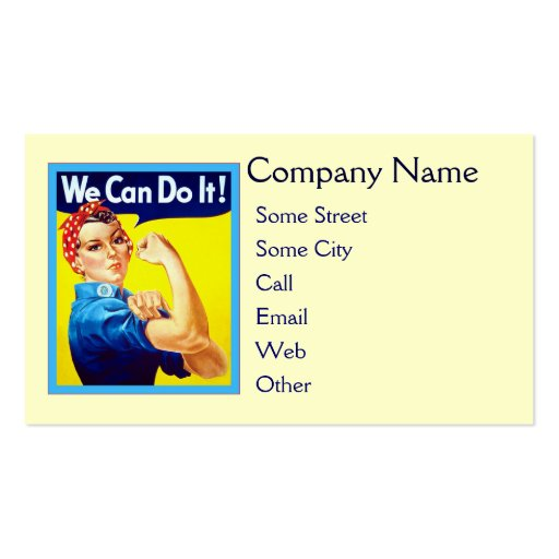 We Can Do It! Double-Sided Standard Business Cards (Pack Of 100)