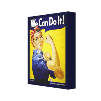 We Can Do It Stretched Canvas Print