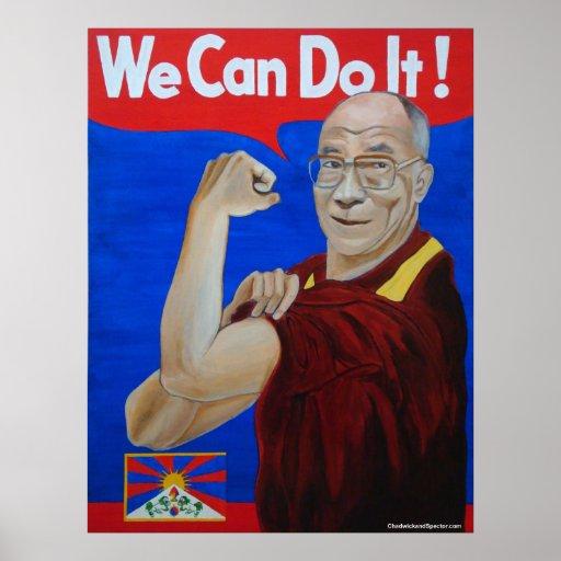 We Can Do It! - Dalai Lama Poster