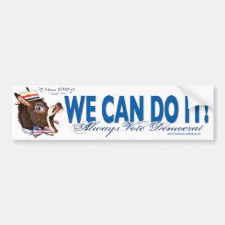 We Can Do It Donkey Head Bumper Sticker