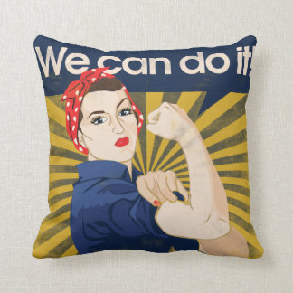 We can do it feminism throw pillow