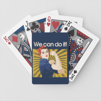 We can do it feminist propaganda playing cards