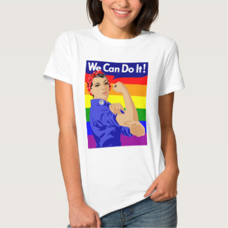 WE CAN DO IT (Gay Flag) Basic T-Shirt