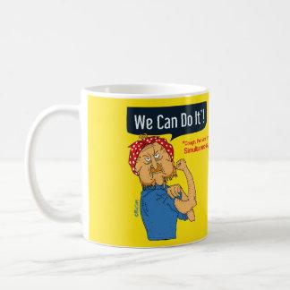 We can do it - grumpy old man cartoon yellow coffee mug