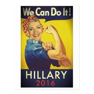 We Can Do It, Hillary for President! Postcard