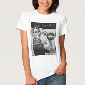 We Can Do It Kettlebell T-shirt B&W