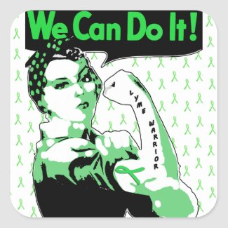 We Can Do It, Lyme Disease Warrior Sticker
