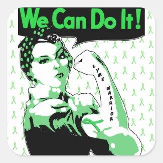We Can Do It, Lyme Disease Warrior Sticker