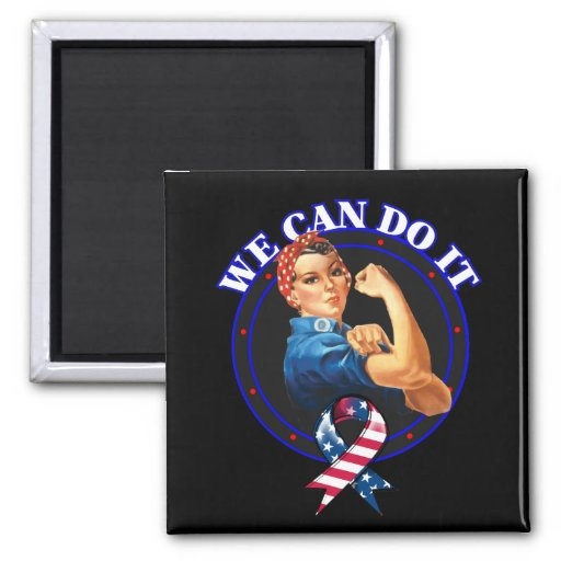 We Can Do It Original Rosie The Riveter 2 Inch Square Magnet