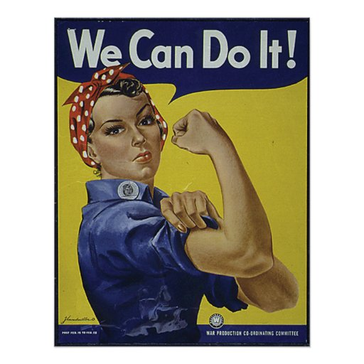 We Can Do It Poster | Zazzle