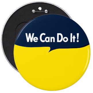 We Can Do it Rosie Graphic Bubble 6 Inch Round Button