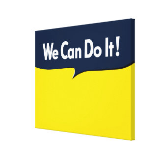 We Can Do it Rosie Graphic Bubble Canvas Print