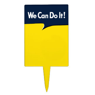 We Can Do it Rosie Headline Cake Topper