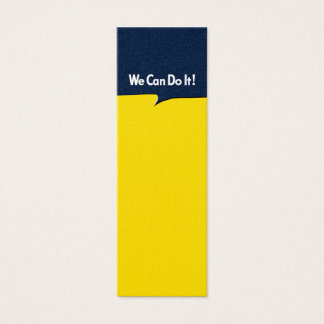 We Can Do it Rosie Mini Business Card