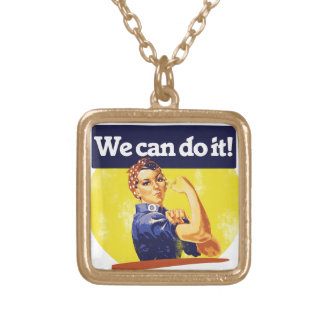 We can do it Rosie Riveter Necklace