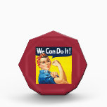 """We Can Do It Rosie the Riveter Award<br><div class=""""desc"""">We Can Do It Rosie the Riveter vintage image and champion of women on an award. Add your custom text if desired. Inspirational gift or award.</div>"""