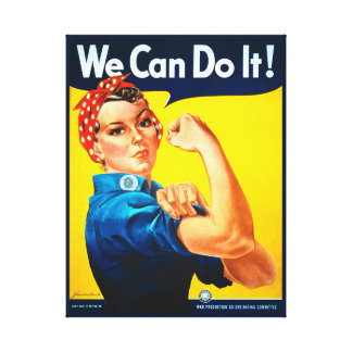 We Can Do It! Rosie the Riveter Canvas Print